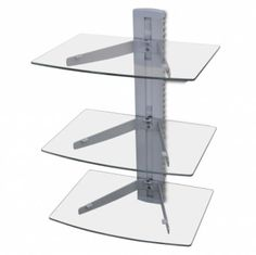 3-tier Wall Mounted Glass DVD Shelf Silver    Enjoy this Cheap Offer. At Luxury Home Brands WE always Find Great Stuff for you :)