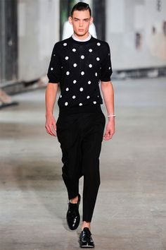 I like all of this. Not generally fond of white dots on my cloths but this is subtle enough to enhance the sophistication of the outfit.