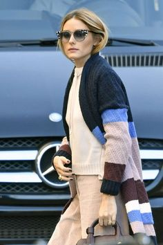 Olivia Palermo in patterned sweater out in New York - October 2016