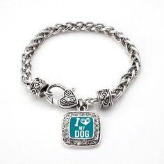 I Love My Dog Braided Charm Bracelet