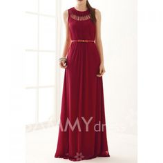 $13.58 Hollow Out Ruffles Cotton Blend Solid Color Maxi Dress For Women(Without Belt)