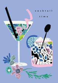 Rebecca Prinn | Advocate Art Birthday Greetings, Birthday Wishes, Home Bild, Cocktail Illustration, Grafik Design, Food Illustrations, Digital Illustration, Art Inspo, Art Paintings