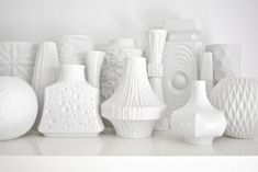Your place to buy and sell all things handmade Porcelain Vase, White Porcelain, Mid Century Desk, White Plants, Vintage Vases, Gold Gilding, White Vases, Op Art, Glass Design