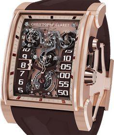 MTR.CC20A.008 Christophe Claret швейцарские часы DualTow Red Gold Brown - мужские наручные часы - золотые, коричневые