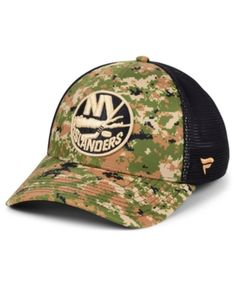 3639130b8a2 Authentic Nhl Headwear New York Islanders Military Appreciation Speed Flex  Stretch Fitted Cap - Brown L
