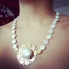 Collar en perlas