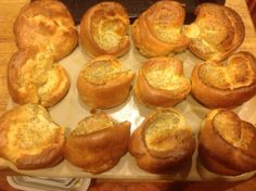 Yorkshire puddings in the 12 cup muffin pan - perfect!