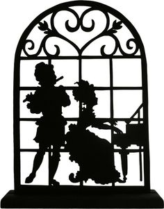 Victorian Couple Playing a Duet Handmade Wood di mountainbrook, $16.90