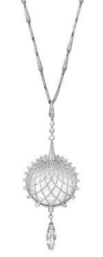 Cartier Urban Necklace - White gold, one briolette-cut diamond, rock crystal, brilliants. PHOTO Vincent Wulveryck © Cartier 2012