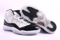 Air Jordan 11 xi Retro White Black Gold