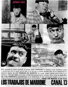 Publicidad de programación de CANAL 13, Buenos Aires, 1964.
