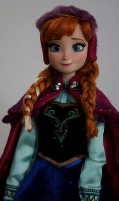 Limited Edition snow Gear Anna OOAK doll, Disney Frozen, full facial repaint, hair restyled.