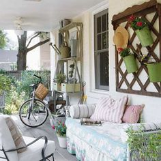 26 Warm and Welcoming Porch Ideas  Cottage Floral Daybed