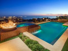 Outdoor Retreats: Sleek Contemporary Pool in Laguna Niguel, Calif. >> http://www.frontdoor.com/the-2014-doory-awards-outdoor-retreats?soc=pinterest