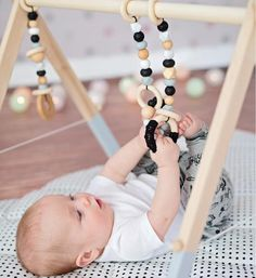 Baby Set, Gifts For New Moms, New Baby Gifts, Scandinavian Nursery Decor, Baby Activity Gym, Wooden Baby Toys, Play Gym, Baby Play, Infant Activities