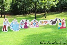 DIY Cinderella Birthday Party Banner Ideas- Disney Characters Prince Charming, Stepmother Lady Tremaine, Drizella, Anastasia, The…