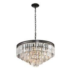 Elk Lighting Palacial 6-light Oil Rubbed Bronze Pendant - Overstock™ Shopping - Great Deals on ELK LIGHTING Chandeliers & Pendants
