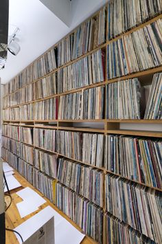 heaven vinyl records...I wish this was my house. However the floor will eventually give way from all that weight