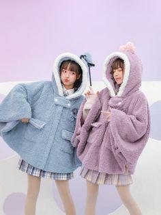 Harajuku Fashion, Kawaii Fashion, Cute Fashion, Fashion Outfits, Matching Outfits Best Friend, Best Friend Outfits, Cute Japanese Girl, Cute Korean Girl, Korean Best Friends