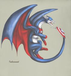 Captain America Dragon by ~Imbecamiel on deviantART