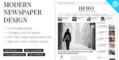 Excellent for a newspaper, magazine or publishing site. This template built with Redux Framework and Metabox plugin. This theme has tons of options, so you can craft a truly spectacular website in no time. Hewo is fully responsive, it looks stunning on all types of screens and devices.We have a dedicated support center for all of your support needs. It includes our Documentation, Ticket sys... Html Website Templates, Template Site, Sticky Navigation, Dark Spots On Skin, Newspaper Design, Beauty Hacks Video, Magazine, Page Layout, Modern