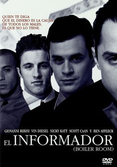 A college dropout gets a job as a broker for a suburban investment firm, which puts him on the fast track to success, but the job might not be as legitimate as it sounds. Scott Caan, Vin Diesel, Ben Affleck, Hd Movies, Movies Online, Cgi, Audio Latino, Vida Real, Boiler