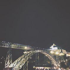 Gaia from the riverside at night.  #night #sky #bridge #lights #river #harbor #medieval #stone  #modern #steel  #architecture #wanderlust #nomad #travel #JardimDoMorro  #PonteLuis #MosteiroDaSerraDoPilar #Gaia #Porto #Portugal #vsco #VSCOcam #VSCOphile