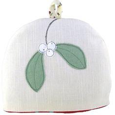 Poppy Treffry tea cosy - linen outer, corduroy inner