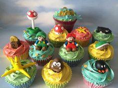 Super Mario Cupcakes by Cakes by Jordana, via Flickr