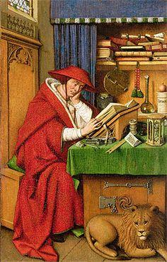 Title: Saint Jerome in His Study, c.1435 Artist: Jan van Eyck Location: Detroit Institute of Arts Michigan USA
