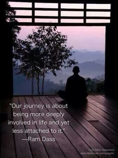 Ram Dass quote on non-attachment and staying present. www.destressyoga.org