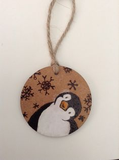 Burned by Clare. Wooden Christmas Decorations, Painted Christmas Ornaments, Wood Ornaments, Handmade Christmas, Christmas Rock, Beach Christmas, Natal Diy, Wood Burning Crafts, Christmas Paintings
