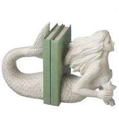 Dot & Bo Mermaid Tales Bookends found on Polyvore