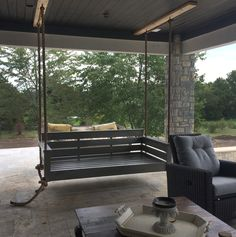 Front Porch Swings for Sale . Front Porch Swings for Sale . How to Build A Porch Swing Bed Farmhouse Porch Swings, Outdoor Porch Bed, Diy Porch, Porch Ideas, Outdoor Living, Balcony Swing, Porch Swing Frame, Patio Swing, Bench Swing