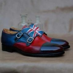 The Best Men's Shoes And Footwear : Union Jack Double Monk by Mr. Best Shoes For Men, Men S Shoes, Male Shoes, Mens Fashion Blog, Fashion Shoes, Men's Fashion, Boating Outfit, Well Dressed Men, Union Jack