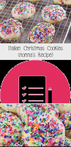 *NEW* Our Classic Italian Christmas Cookies are buttery, tender, cakey and not too sweet. Gorgeous on your Christmas cookie tray! Chocolate Christmas Cookies, Holiday Cookies, Holiday Treats, Italian Christmas Cookie Recipes, Best Cookie Recipes, Italian Wedding Cookies, Italian Cookies, Anisette Cookies, Drop Sugar Cookies