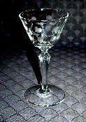 Libbey Rock Sharpe Carlton Dots Crystal Wine Glasses