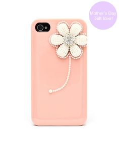 Nature's Calling Pearl Flower iPhone 4 and 4s Case - Salmon  $20