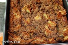 Overnight Cinnamon French Toast - make the night before.  Great for holiday mornings or when you have guests stay over.: