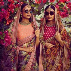 Beautiful floral printed sarees from Sabyasachi spring summer 2018 collection #Frugal2Fab