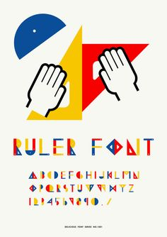 Sapporo ADC Award / RULER FONT POSTER