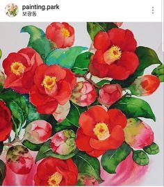 Yongsan-gu Hobby Art Studio Painting Park Watercolor Class Camellia Drawing … – World of Flowers Plant Art, Calligraphy Art, Camellia, Botanical Art, Vintage Flowers, Watercolour Painting, Gouache, Pencil Drawings, Artwork