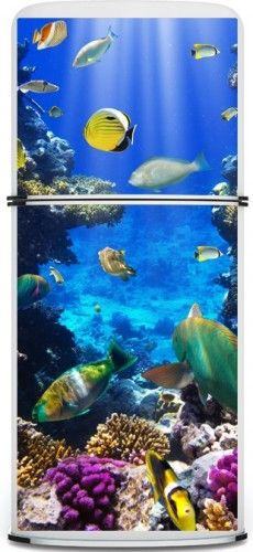 underwater refrigerator decal