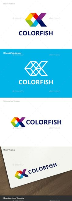 Color Fish Logo by domibit Color Fish: is a logo that can be used in technological companies, software development companies and applications, design studios
