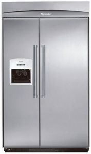 """KBUDT4865E Thermador 48"""" Built-In Side-by-Side with External Ice Dispenser - Pro Handles - Stainless Steel $9749.00"""