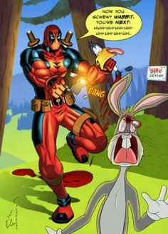 Oh my gosh, I can't even beging to express how much this means to me.... There is absolutely no words that I know of that can properly express how much I absolutely HATE Bugs Bunny and LOVE Deadpool. There's more to it but Pinterest is dumb and won't give me enough characters to explain why.