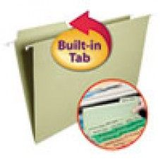 Desk Supplies>Desk Set / Conference Room Set>Holders> Files & Letter holders: FasTab Hanging File Folders, 1/3 Tab, Legal, Moss Green, 20/Box