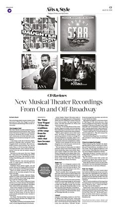 New Musical Theater Recordings From On and Off-Broadway|Epoch Times #Arts #newspaper #editorialdesign
