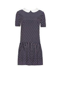 MANGO - Printed ruffled dress