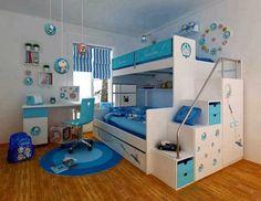Dormitorios con camas literas para niños